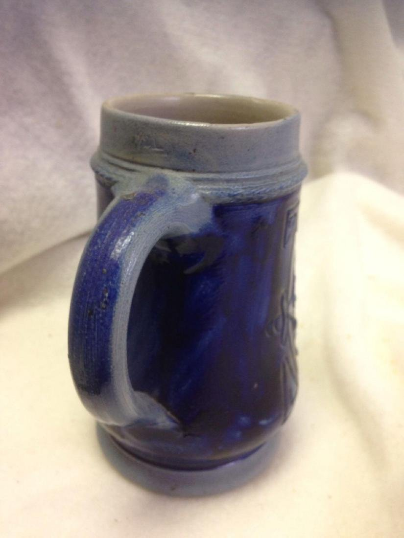 Vintage German Salt Glazed Stoneware Beer Stein- lot 2 - 4