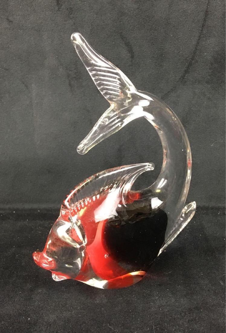 Vintage Art Glass Fish - 2
