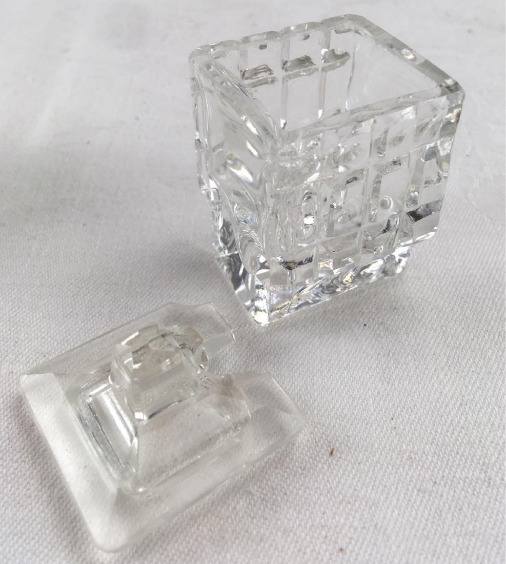 Vintage Pressed Glass Cruet Condiment Set - 3