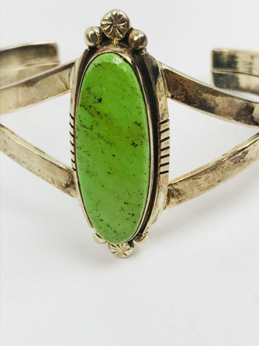 Vintage Southwestern Sterling Silver & Green Turquoise - 6