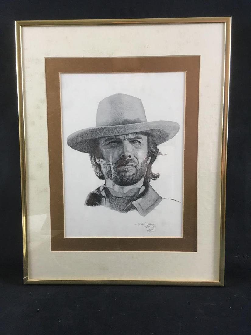 Clint Eastwood Signed And Numbered Print by Victor Jose