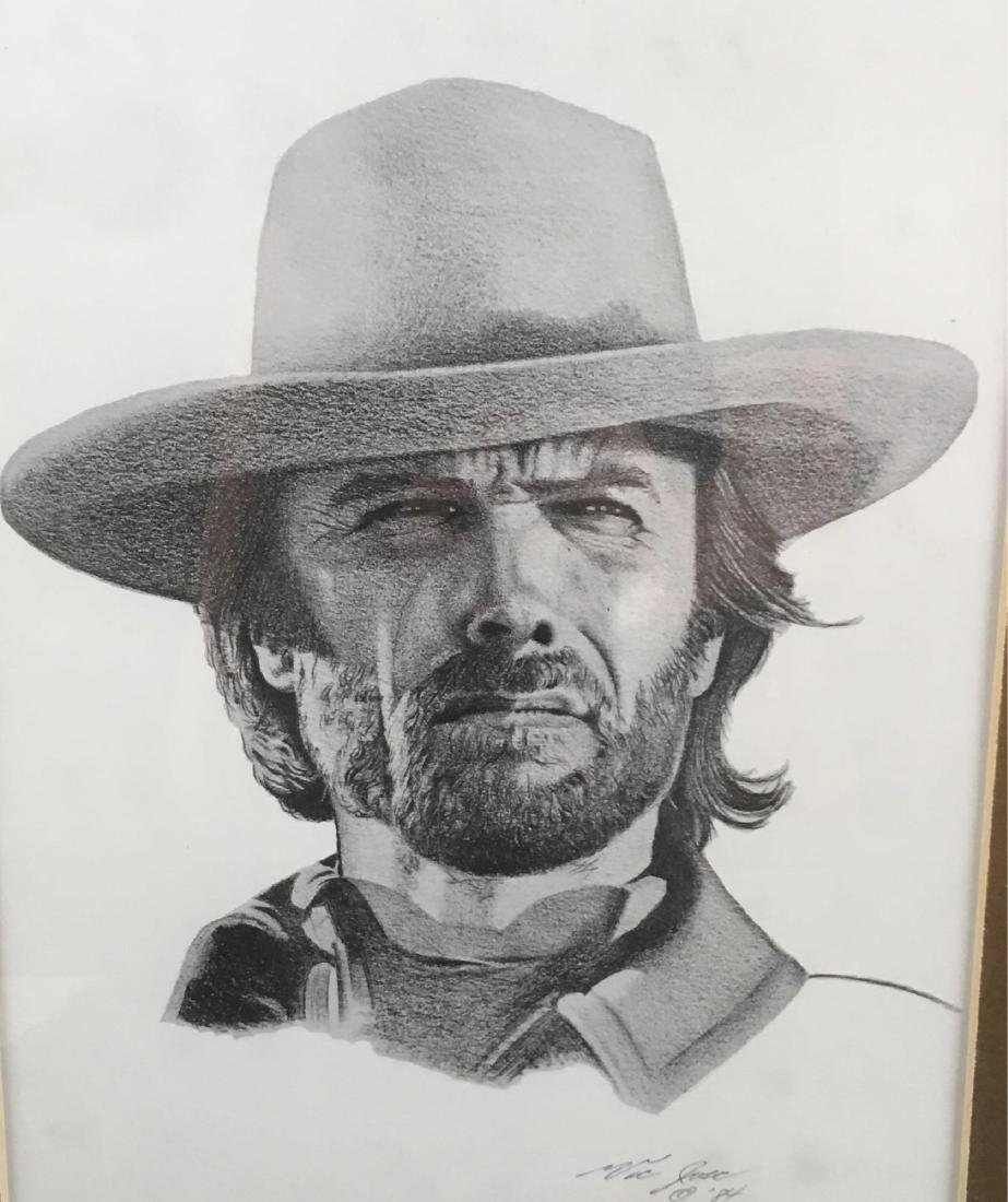 Clint Eastwood Signed And Numbered Print by Victor Jose - 2