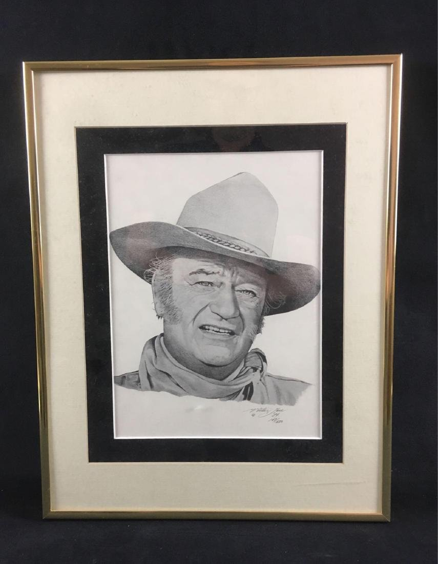 John Wayne Print Signed And Numbered by Victor Jose