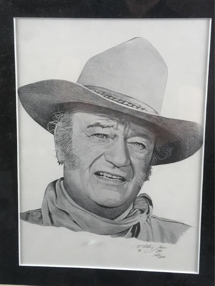 John Wayne Print Signed And Numbered by Victor Jose - 2