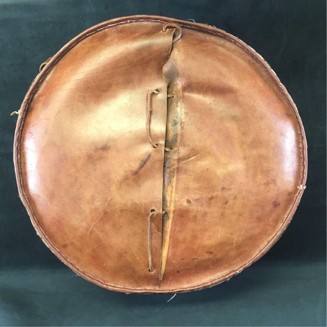 Vintage Peruvian Leather Stool - 7