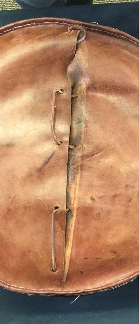Vintage Peruvian Leather Stool - 8