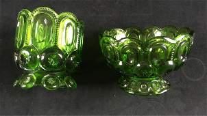 Vintage Green Bohemian Candle Votives