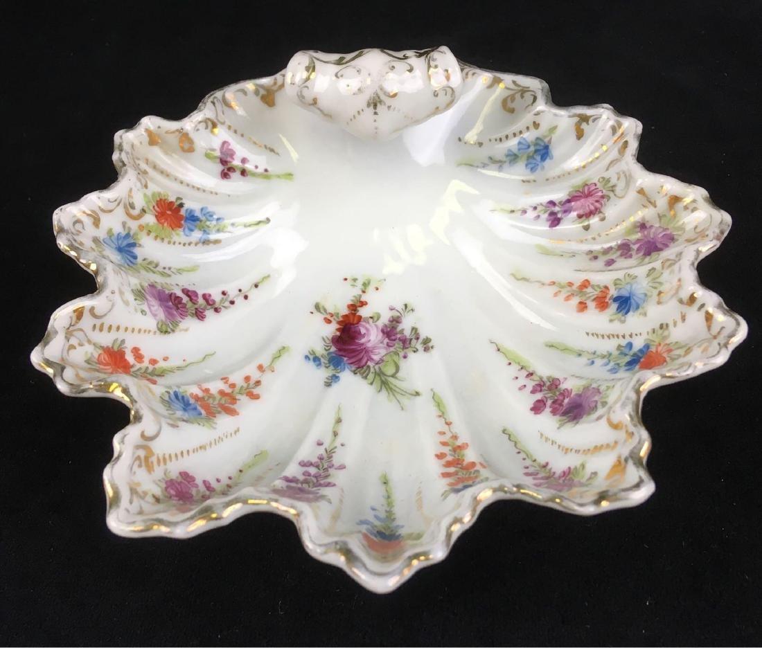 Vintage Scalloped Rim Porcelain Candy or Trinket Dish