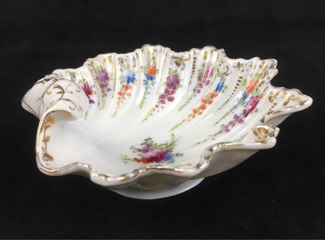 Vintage Scalloped Rim Porcelain Candy or Trinket Dish - 3