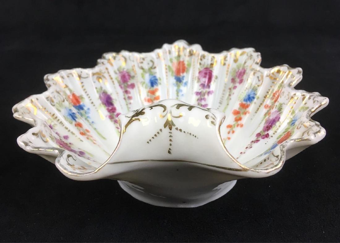 Vintage Scalloped Rim Porcelain Candy or Trinket Dish - 4