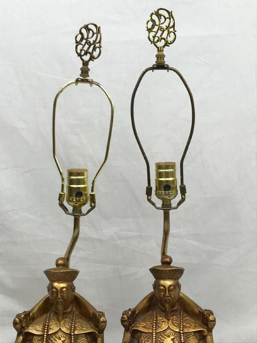 Pair of Sitting Confucius Table Lamps - 2