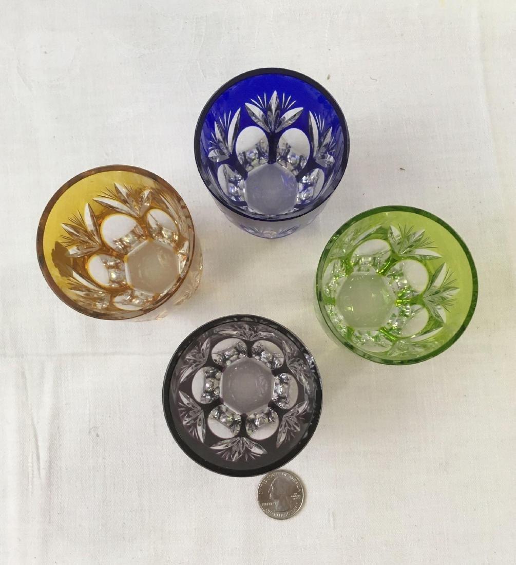 Vintage Bavarian Nachtmann Colored Crystal Rocks Glass - 3