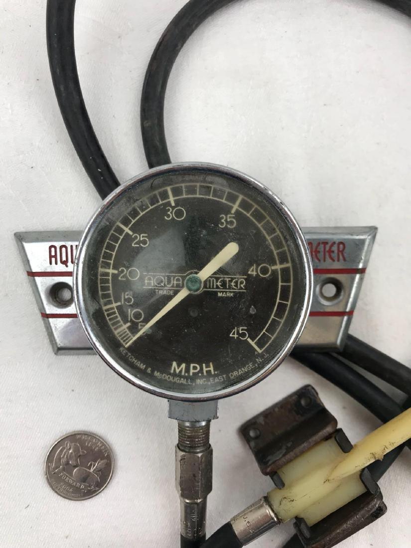 Vintage Aqua Meter Boat Speedometer - 2