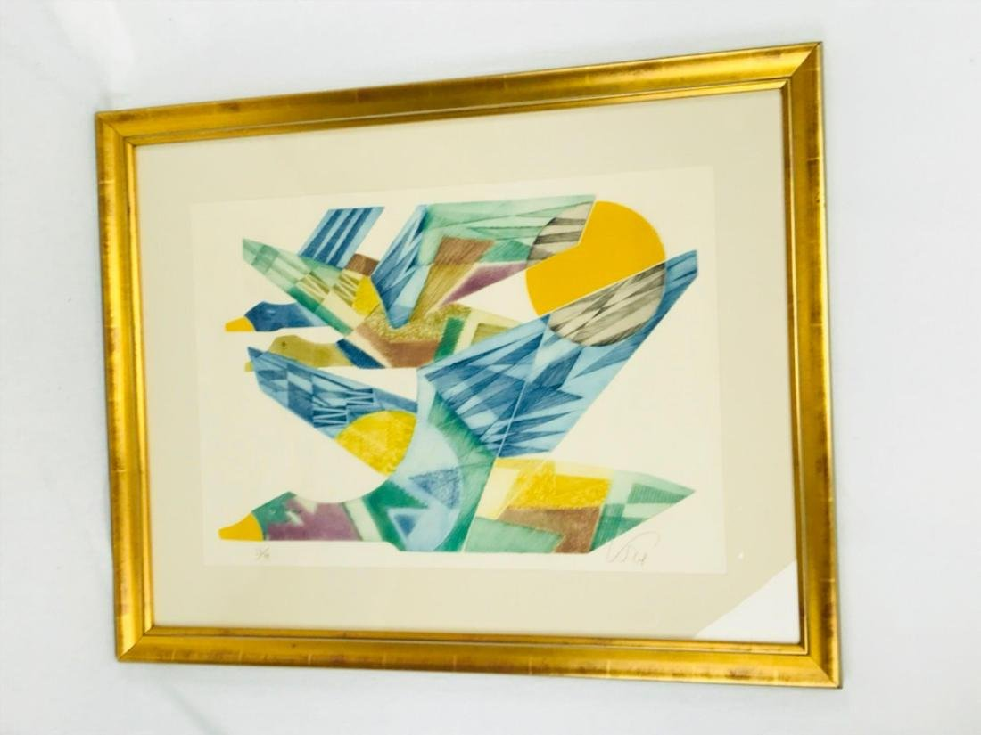 Abstract Flying Geese Color Print - 2
