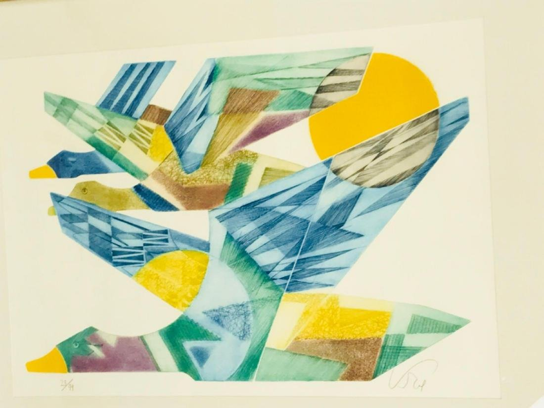 Abstract Flying Geese Color Print - 3