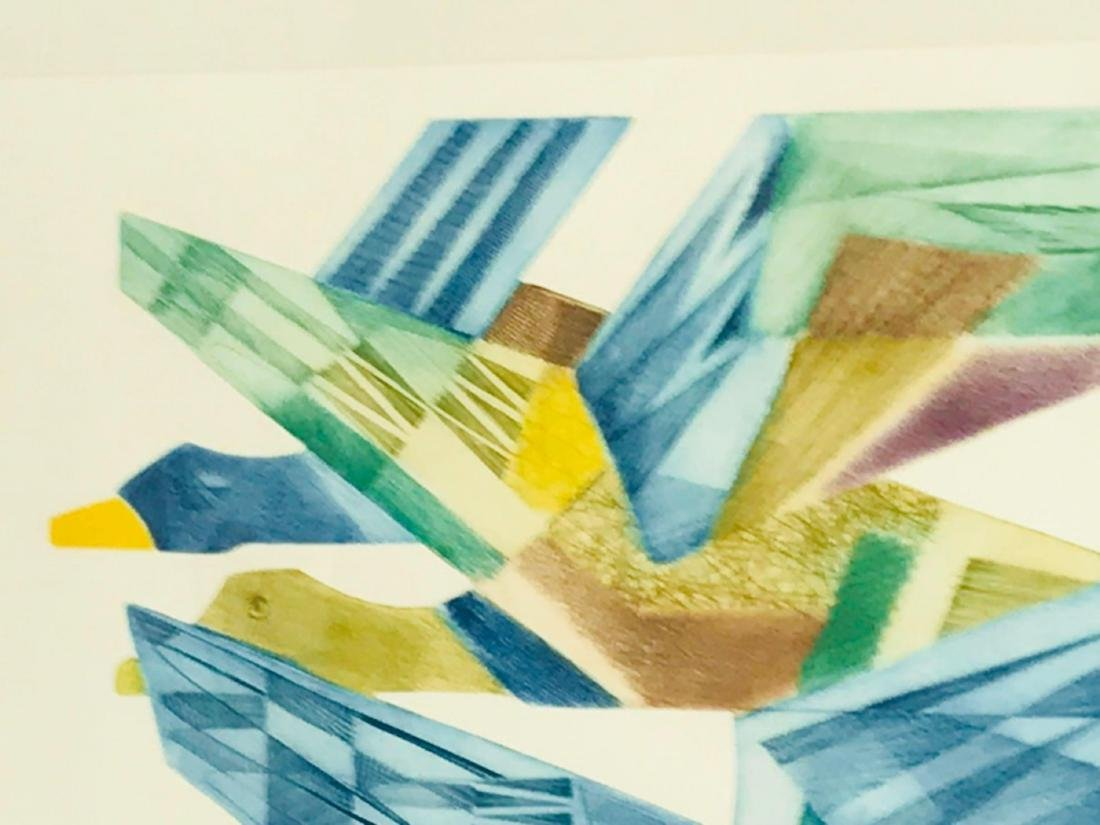 Abstract Flying Geese Color Print - 5