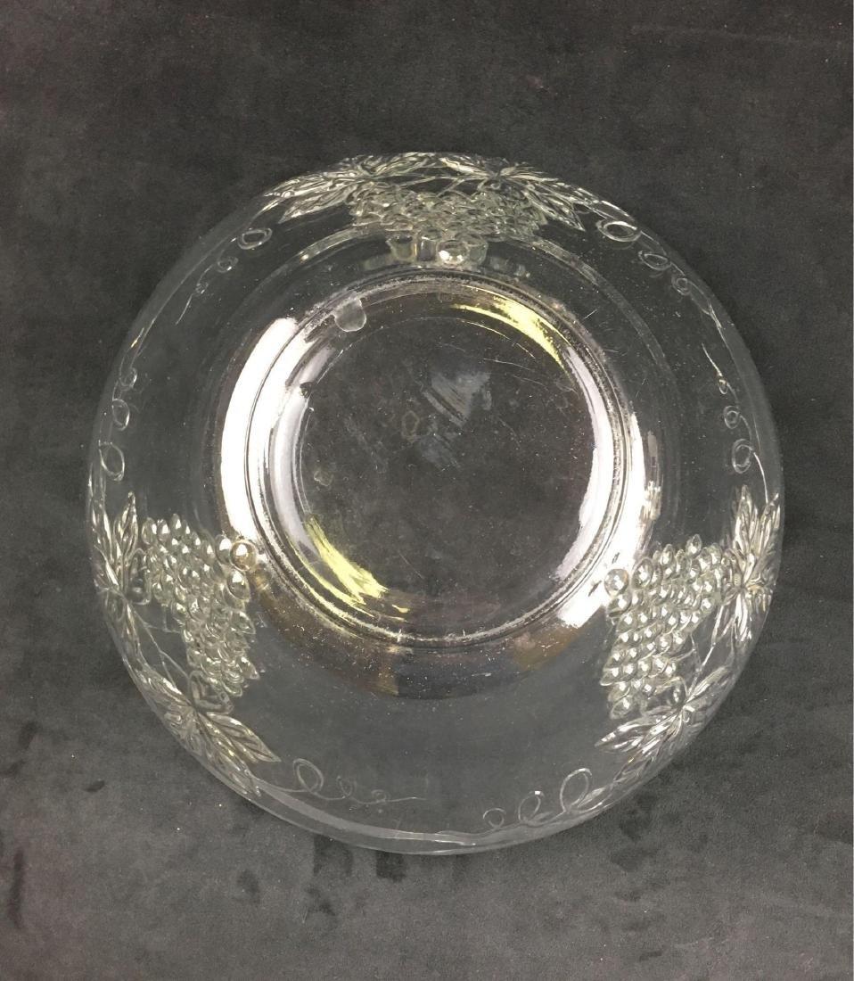 Vintage Glass Grape Punch Bowl - 3