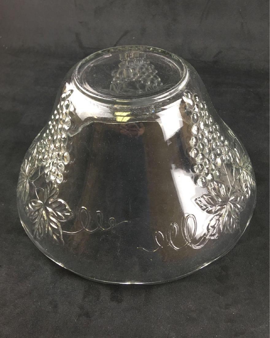 Vintage Glass Grape Punch Bowl - 4