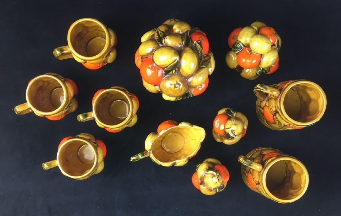 Vintage Orange Spice By Inarco Fruit Basket Coffee Set - 2