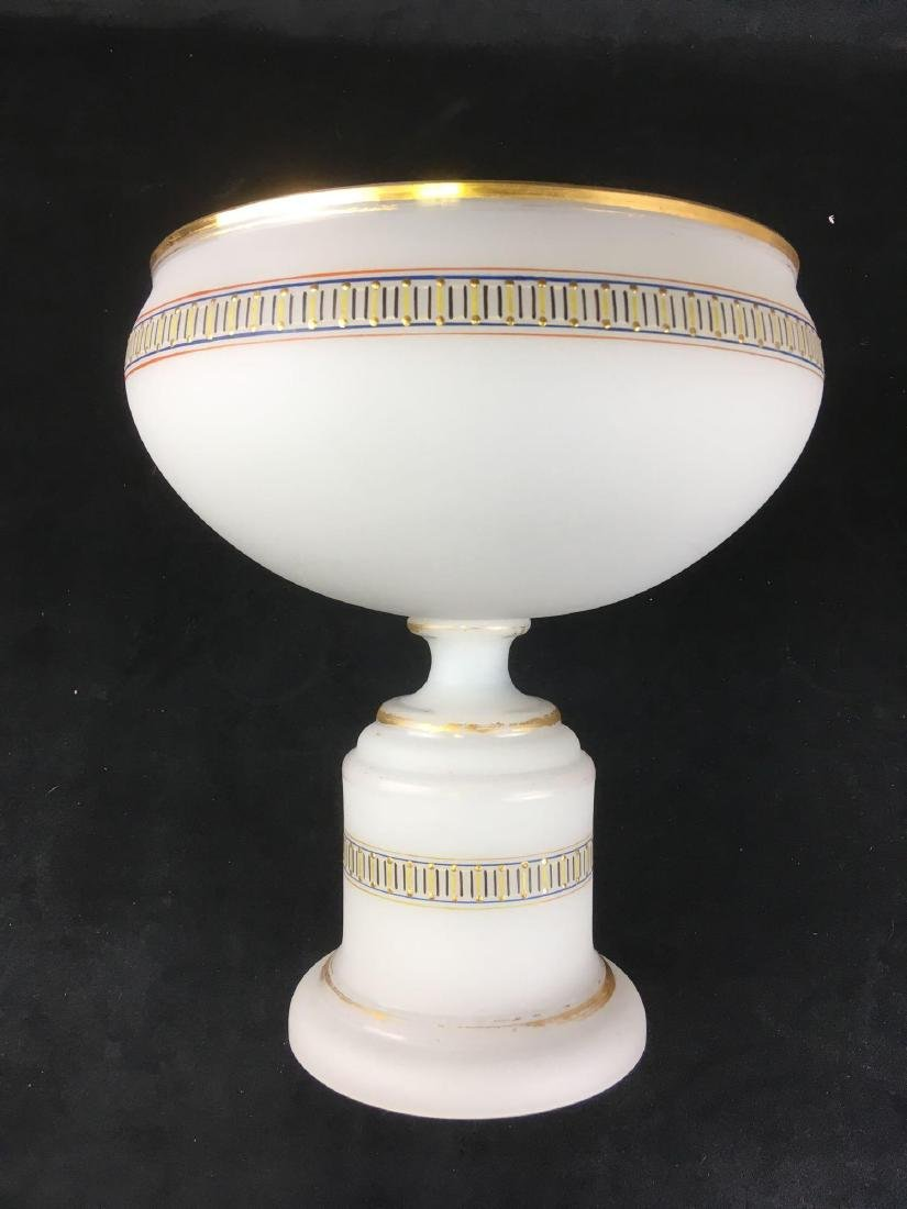 Vintage Frosted Glass Punch Bowl and 12 Cups in - 5
