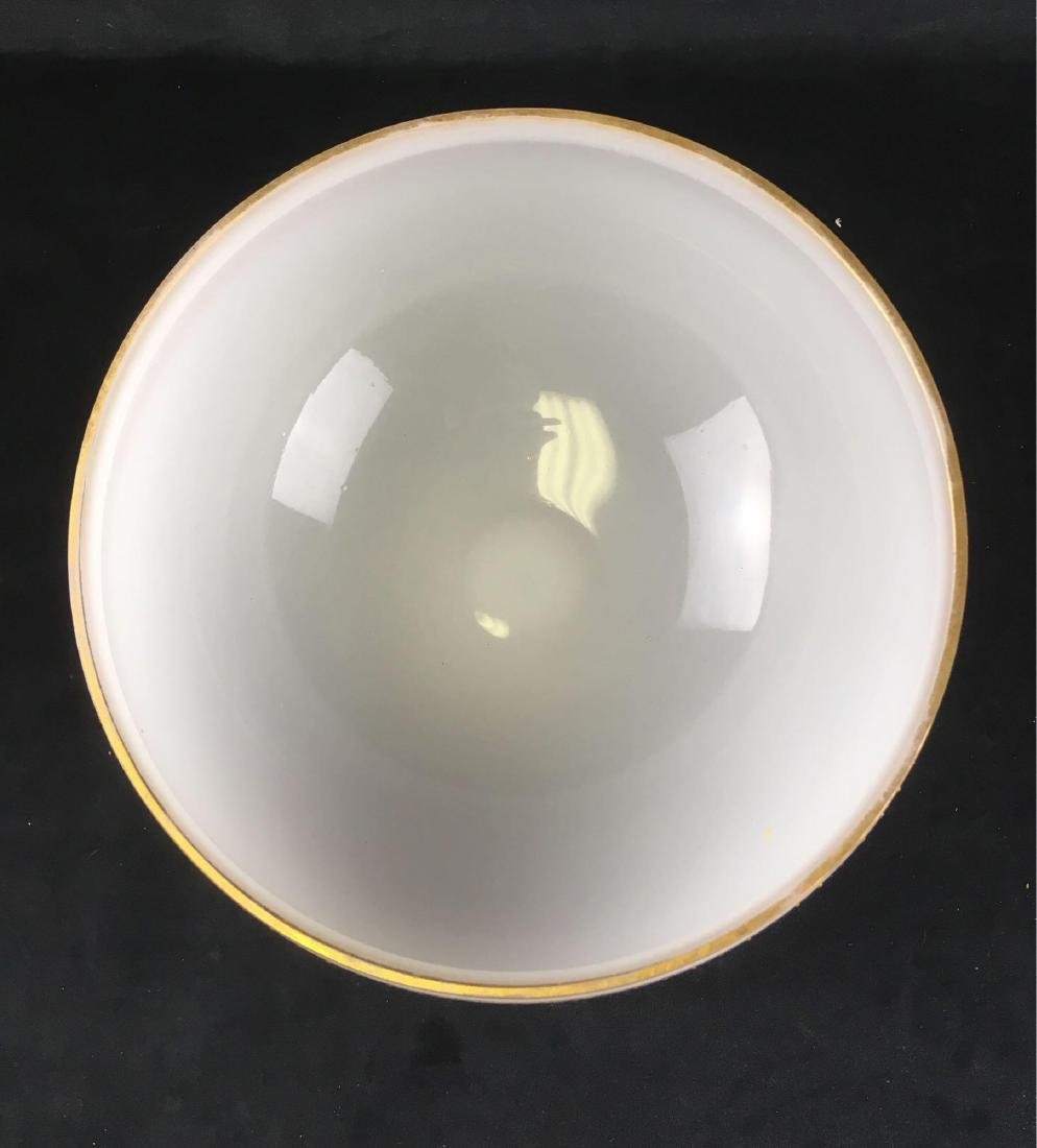 Vintage Frosted Glass Punch Bowl and 12 Cups in - 7