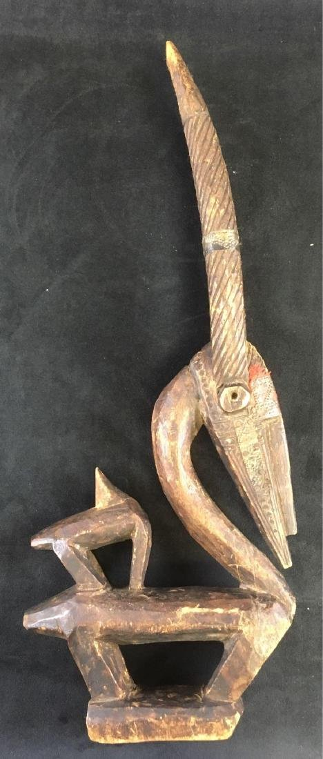 Antique African Culture Chi Wawa Mask Effigy Carving