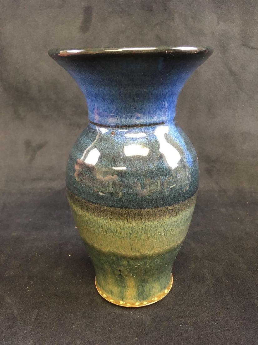 Art Pottery Earthenware Vase Signed - 2
