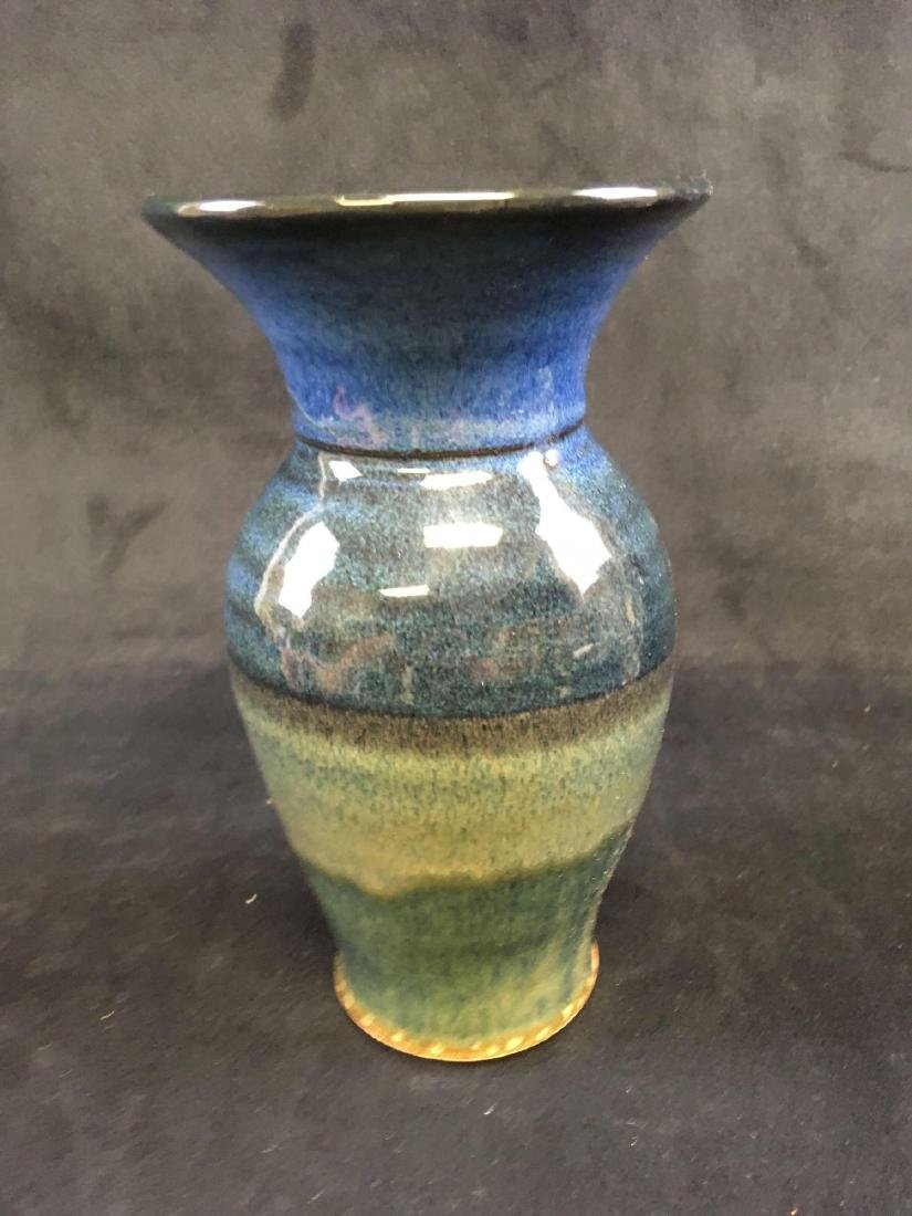 Art Pottery Earthenware Vase Signed - 3