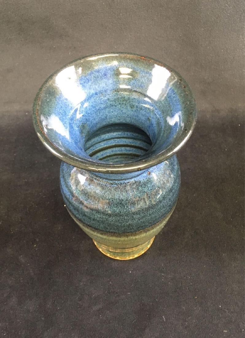 Art Pottery Earthenware Vase Signed - 4