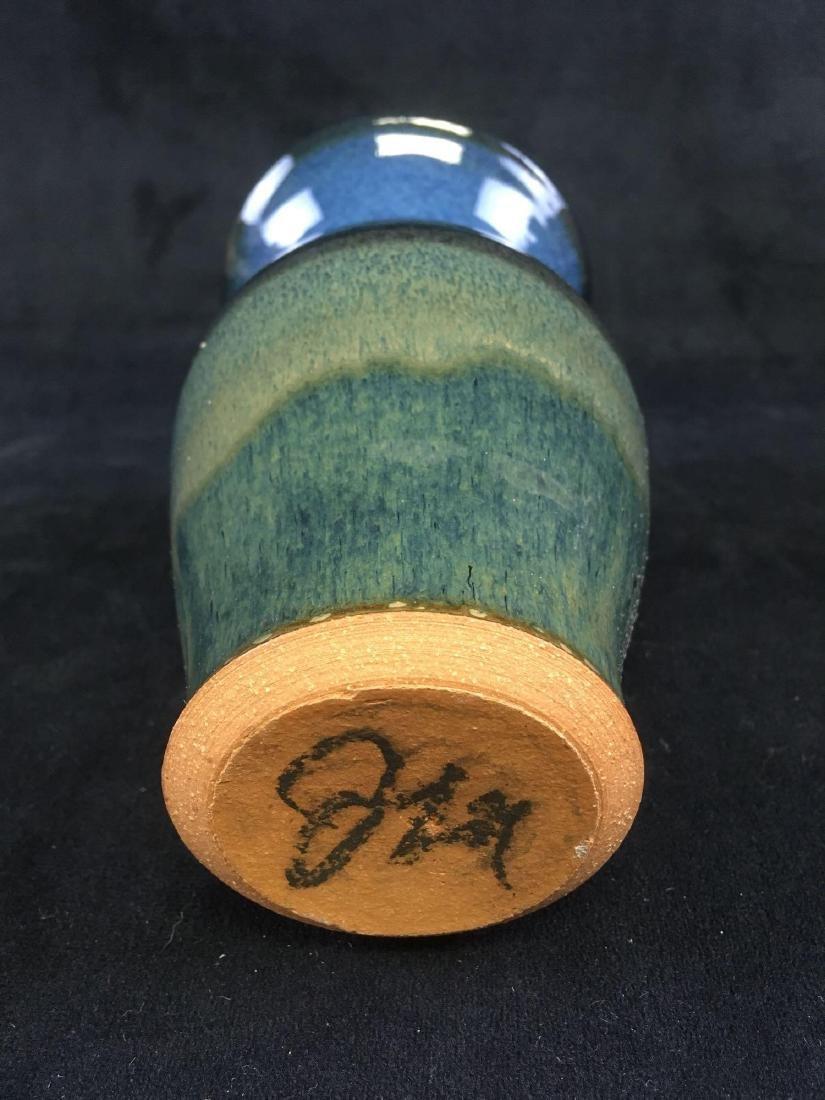 Art Pottery Earthenware Vase Signed - 5