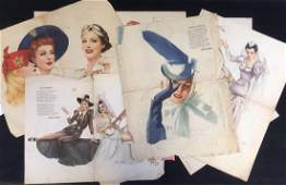 Collection of10 Vintage Esquire Magazine Pinup Girls