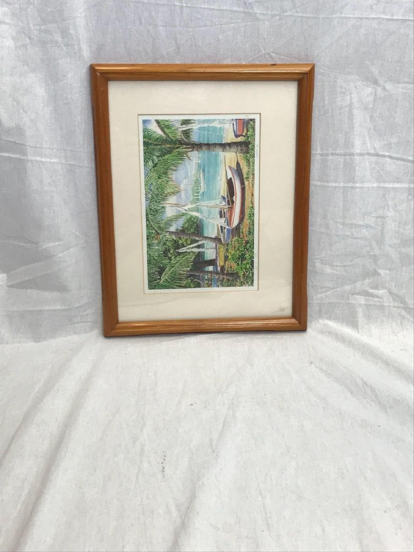Print of Original Watercolor, Beach Scene, Signed - 10