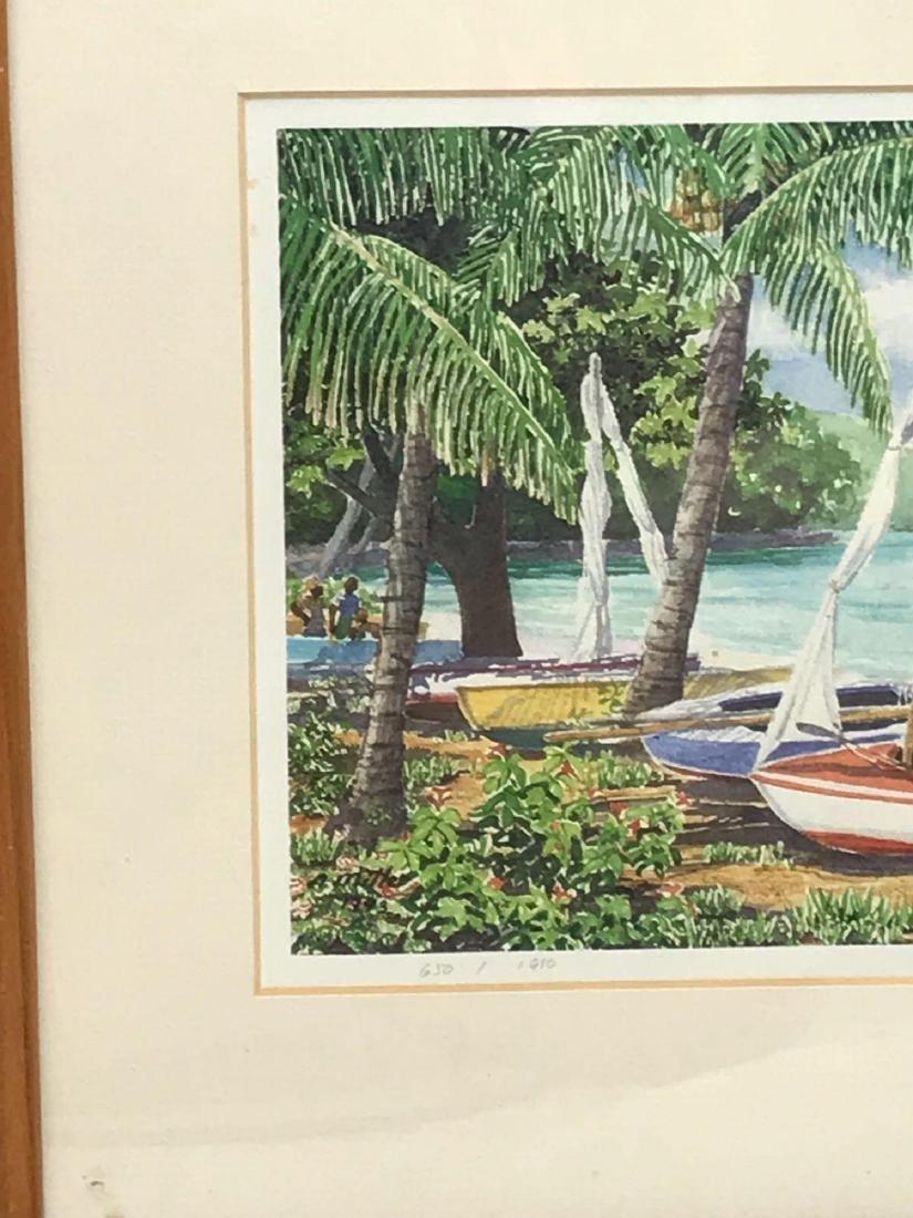 Print of Original Watercolor, Beach Scene, Signed - 3