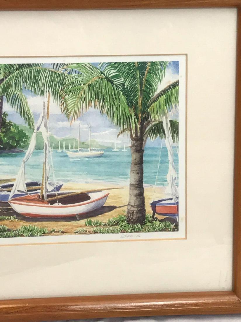 Print of Original Watercolor, Beach Scene, Signed - 4
