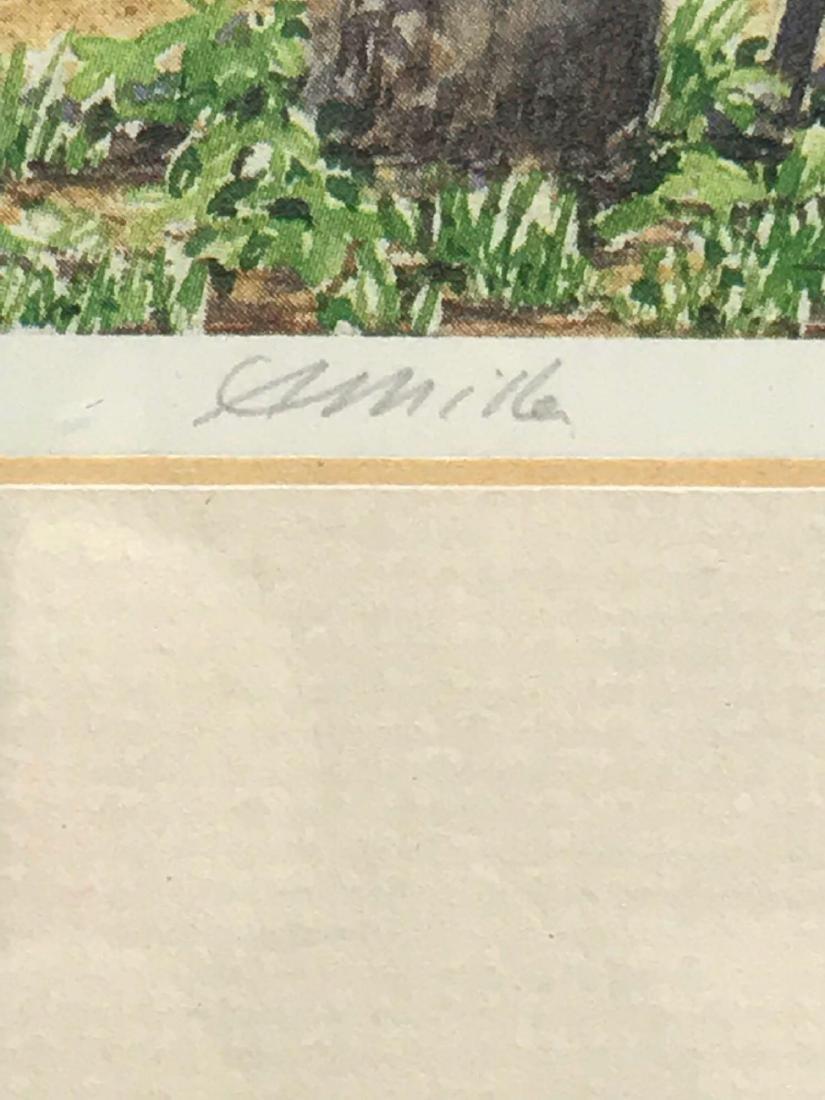 Print of Original Watercolor, Beach Scene, Signed - 6