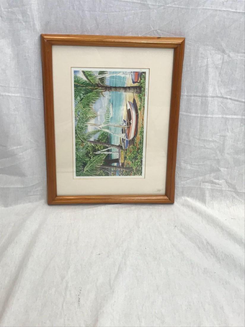 Print of Original Watercolor, Beach Scene, Signed - 9