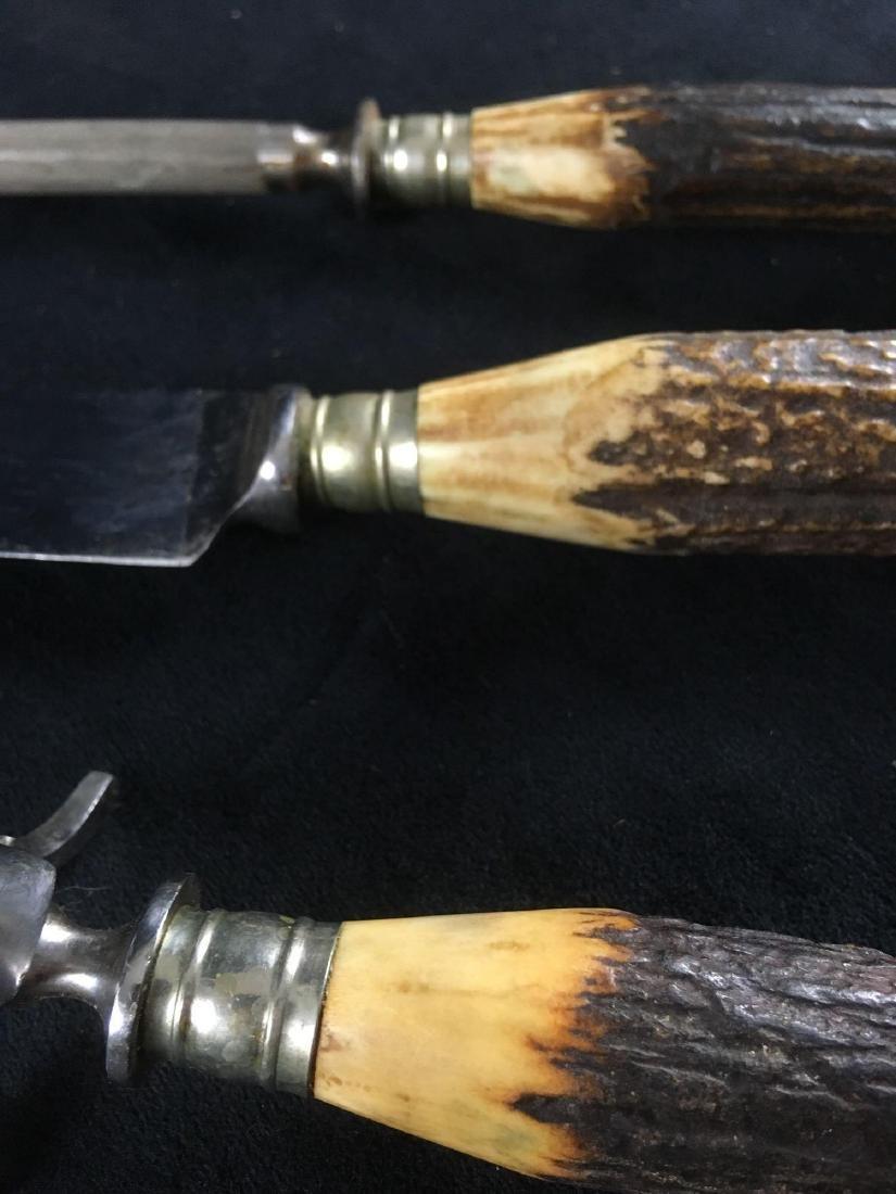 Vintage German JA Henckels Antler Carving Set - 7