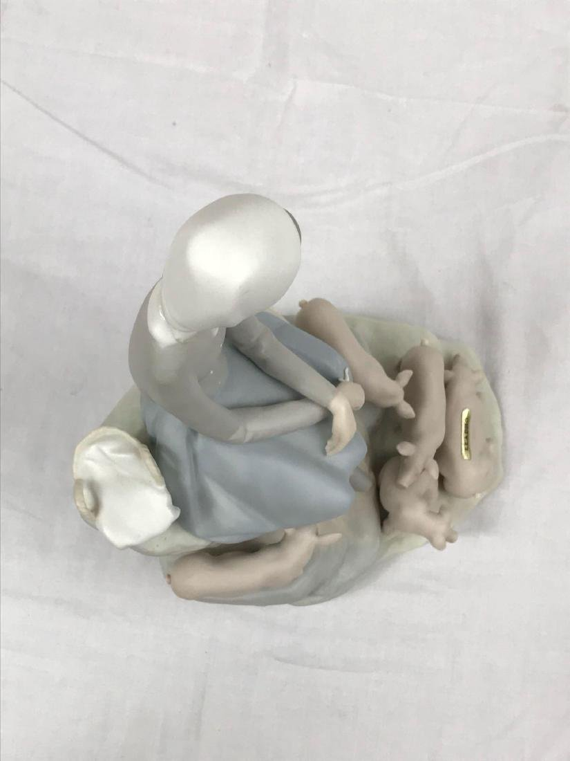 """Lladro Spain """"Girl With Piglets"""" Figurine - 8"""