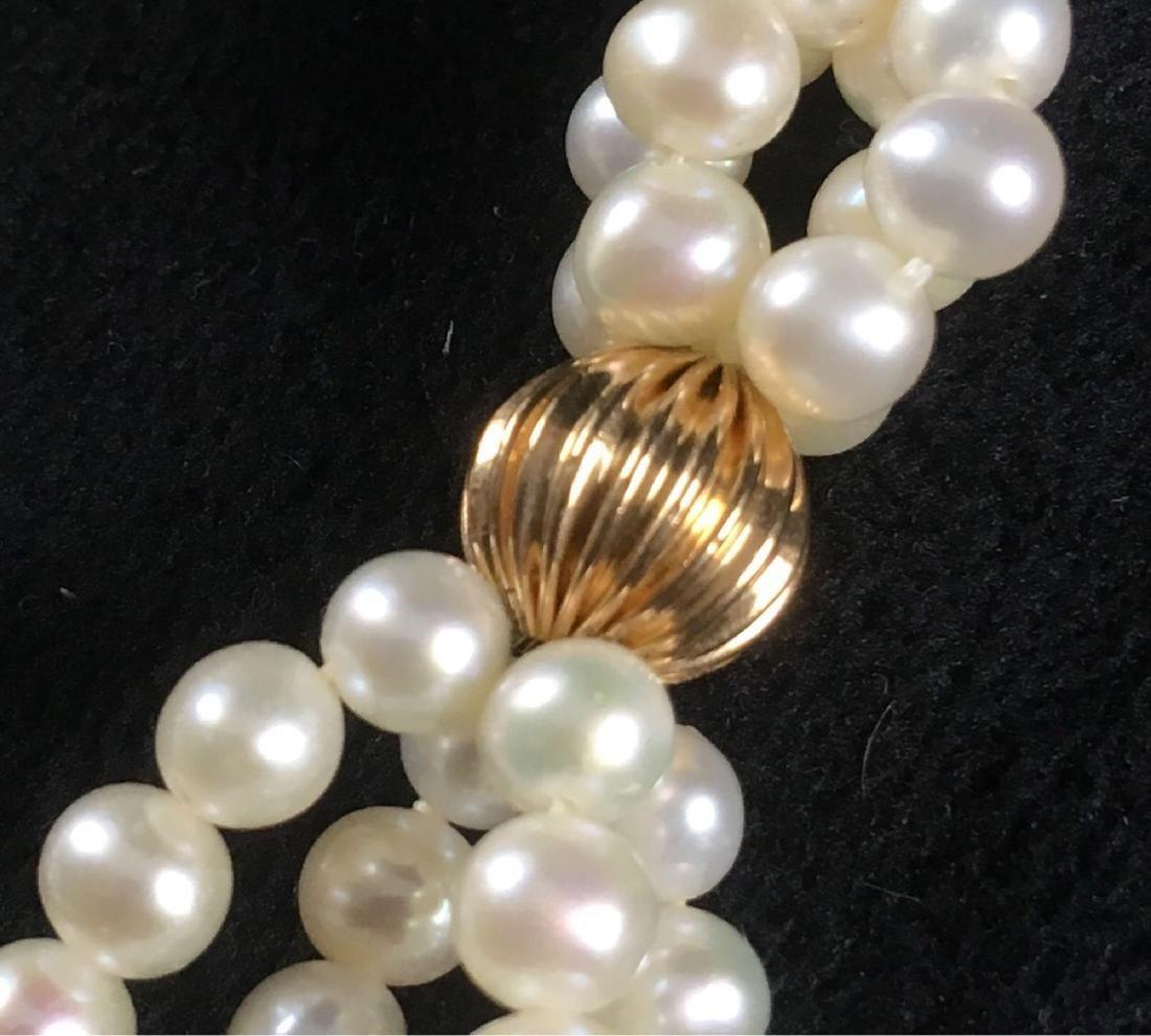 Vintage Pair Of Pearl Dangle Earrings - 2