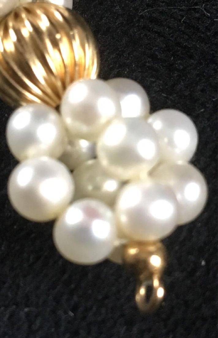 Vintage Pair Of Pearl Dangle Earrings - 3