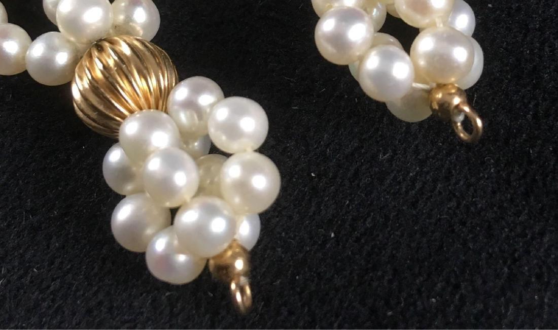 Vintage Pair Of Pearl Dangle Earrings - 4