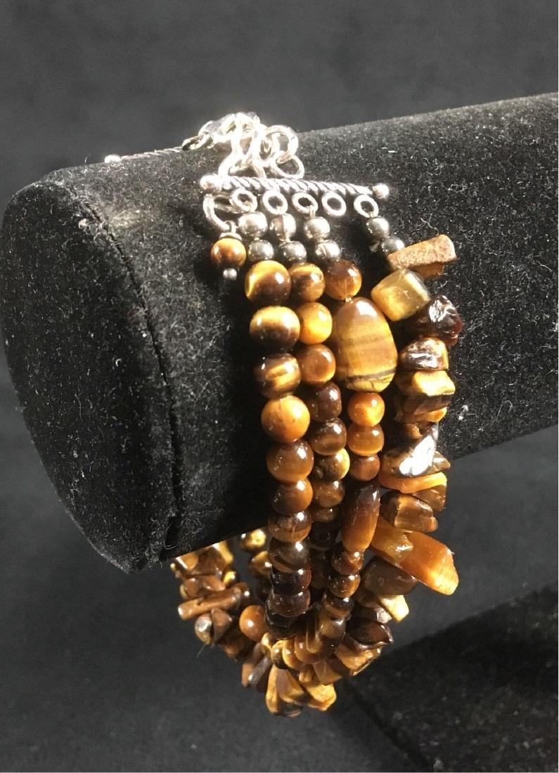 Vintage Multi Strand Tigers Eye Bracelet - 3