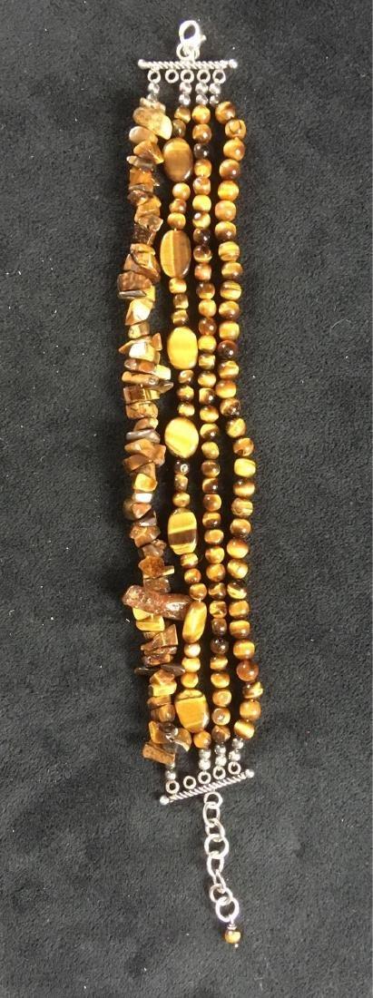 Vintage Multi Strand Tigers Eye Bracelet - 5