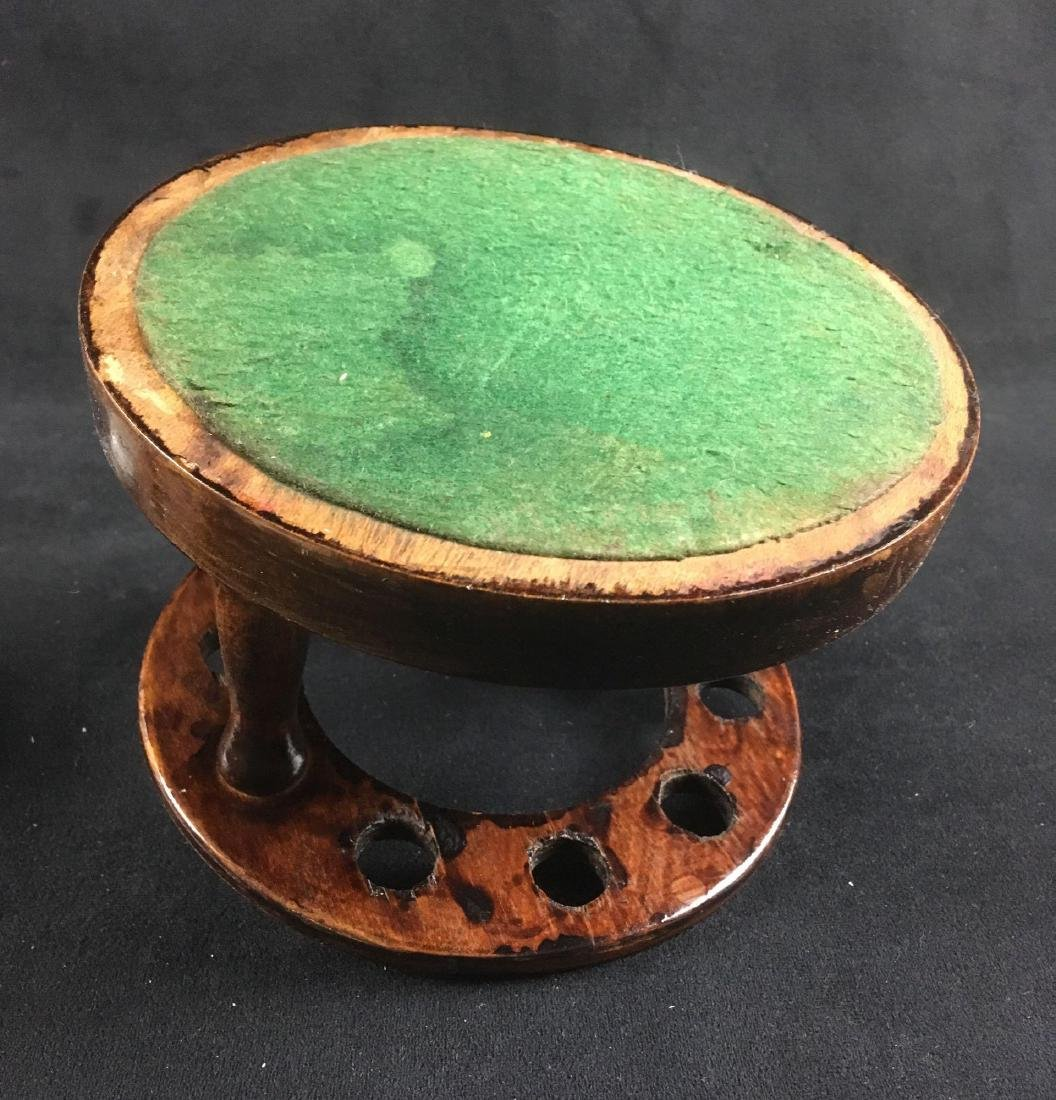 Vintage Walnut Pipe Stand and Humidor - 6