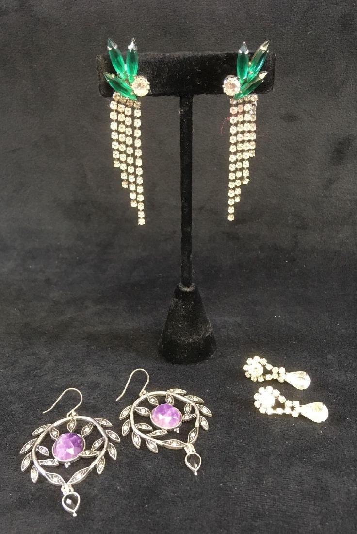 Vintage Collection Of Art Nouveau Style Earrings