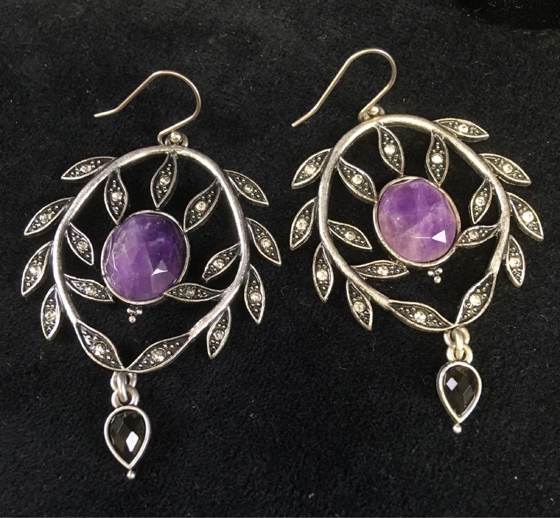 Vintage Collection Of Art Nouveau Style Earrings - 3