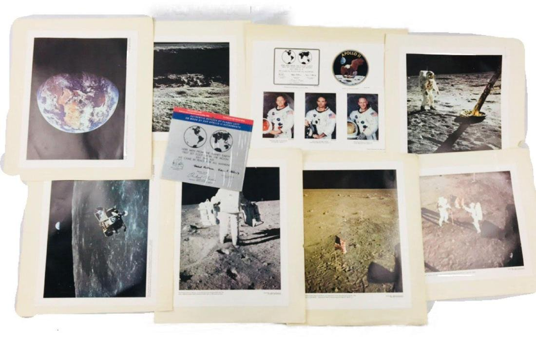 Lot of NASA Issued Apollo 11 Large Photographs and