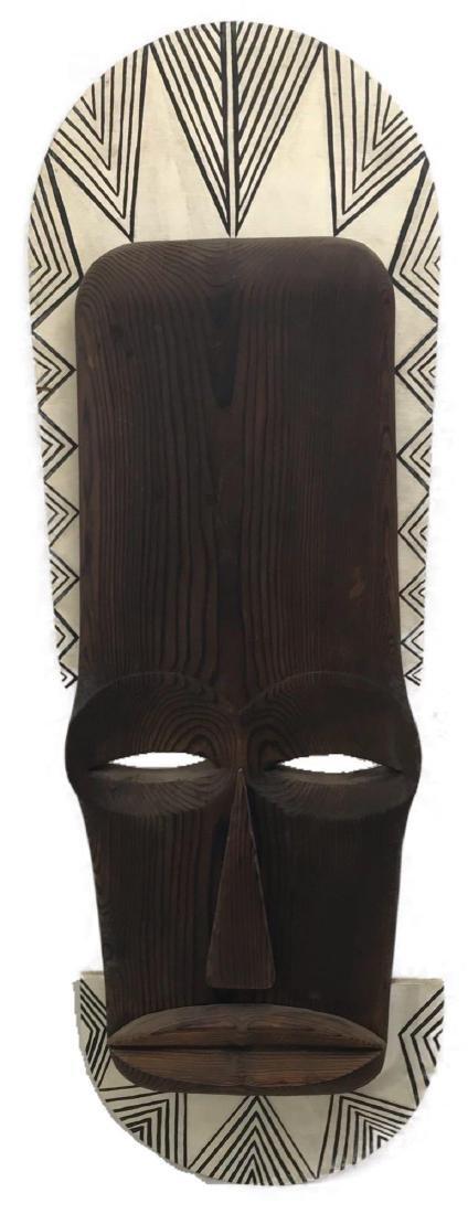 Vintage Carved Tribal Mask, Mounted