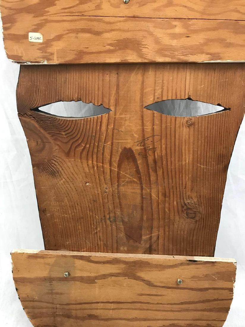 Vintage Carved Tribal Mask, Mounted - 7