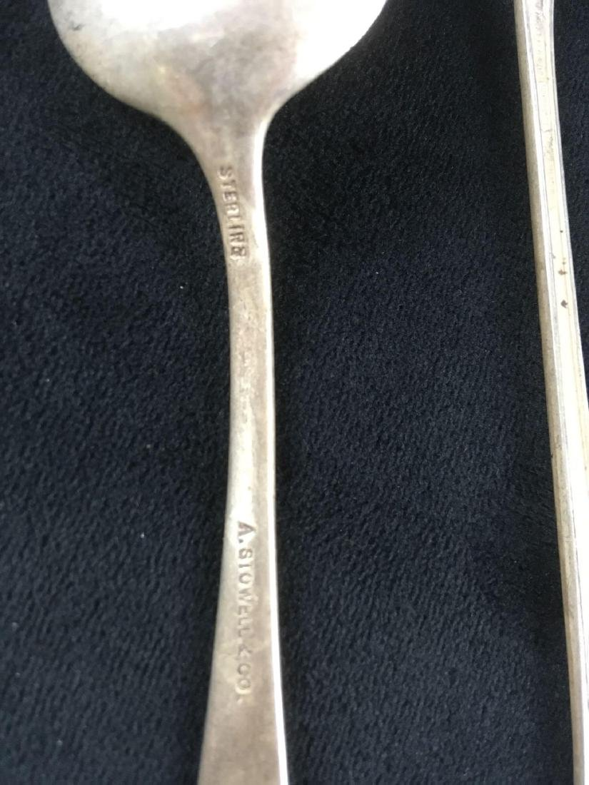 Sterling Silver Spoons and Serving Knife - 2